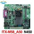 Mini_itx embedded motherboard Industrial ITX_M58_A50 N455 1.66 GHz de un solo núcleo de la CPU