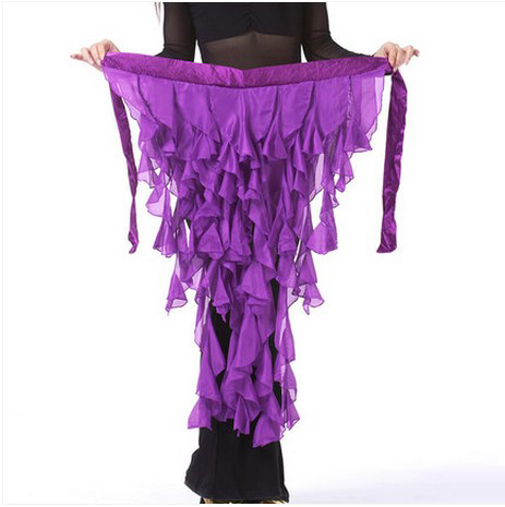 New Style Belly Dance Costumes Chiffon Tassel Belly Dance Hip Scarf For Women Belly Dancing Belts 12 Kinds Of Colors