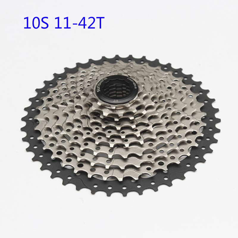 Road mountain bicycle freewheel mtb 10 speed cassette flywheel MTB 11-42T 10S  bike cassette free wheel cycling parts  mtb mountain bike bicycle 10s cassette freewheel 8 speeds flywheel 11 13 15 18 21 24 28 32 36t teeth crankset