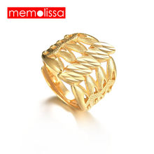 MeMolissa Ethiopian Wedding Rings for Women,Gold Color Adjustable Fashion Ring/African/Eritrea Jewelry/Nigeria/Arab Dad Gift(China)