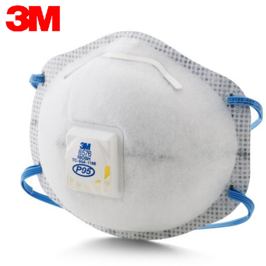 3M 8576 3pcs/Lot Mask Original Particulate Respirator P95 Standard Nuisance Level Acid Gas Relief Cool Flow Valve Gas Mask LT110 3m 6300 6003 half facepiece reusable respirator organic mask acid face mask organic vapor acid gas respirator lt091