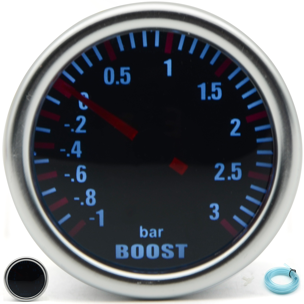 DRAGON GAUGE 52mm 3.0 BAR Turbo Boost Gauge Mechanical Smoke Lens худи print bar electro dragon