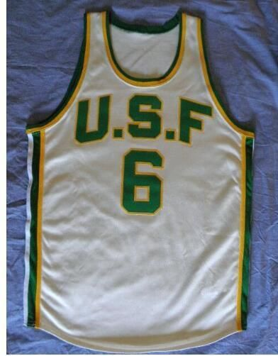 ... Aliexpress.com Buy University of San Francisco 6 Bill Russell Jersey  any Custom name 6bf5e242c