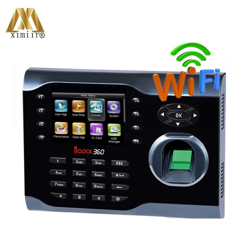 Iclock360 Fingerprint Card Reader Biometric Fingerprint Time Clock With WIFI And TCP/IP Employee Attendance