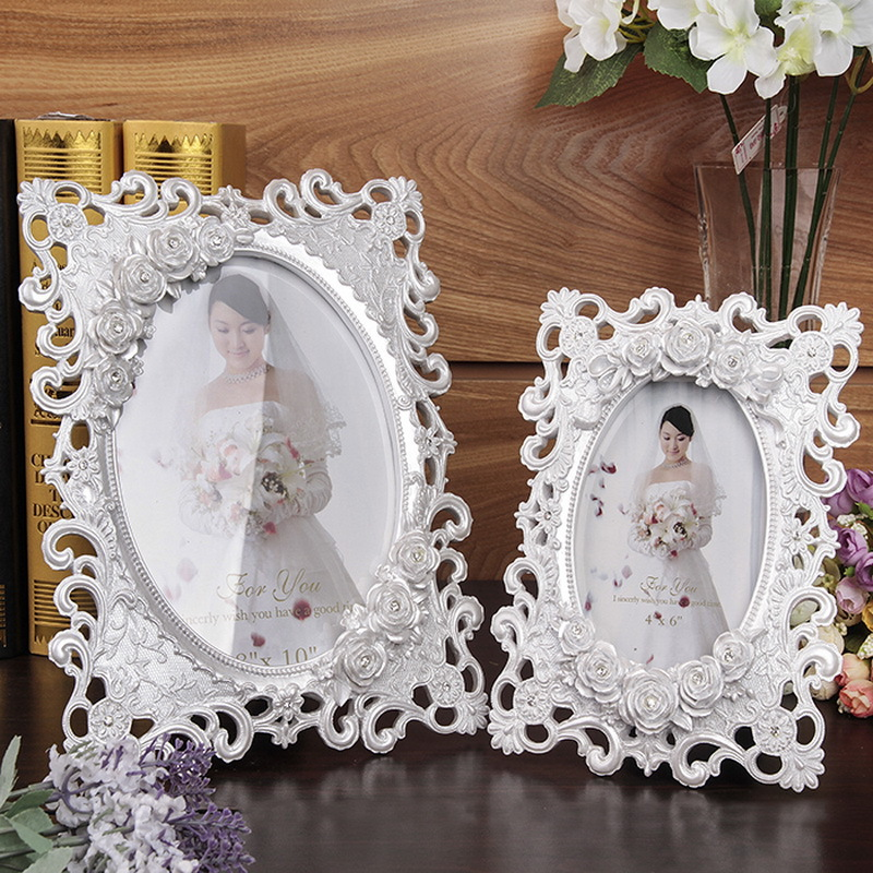 White Wedding Frames Red Roses Picture Frames Girls ...