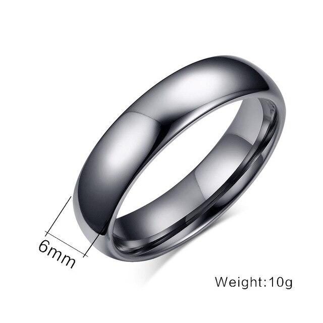 высококачественные простые кольца из вольфрамовой стали серебряного фотография