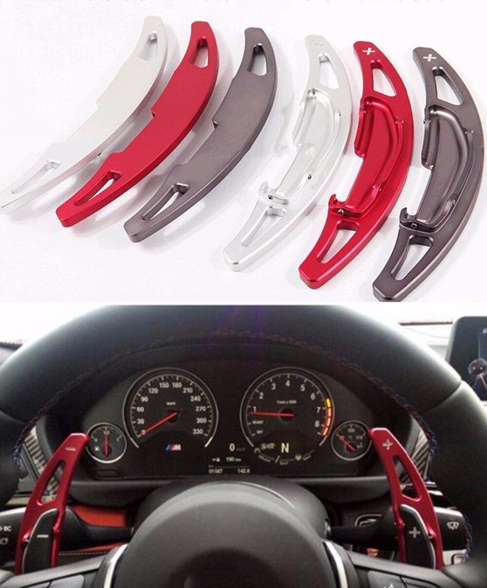 DEE En Alliage D'aluminium volant DSG palettes pour BMW M2 M3 M4 M5 M6 X5M X6M paddle Boîte Voiture accessoires autocollants