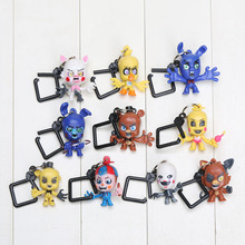 10pcs/lot FNAF 5 Five Nights With Freddie Five Night At Freddy Game Bear Foxy Bonnie Chica Mangle Figures Toy for Boys