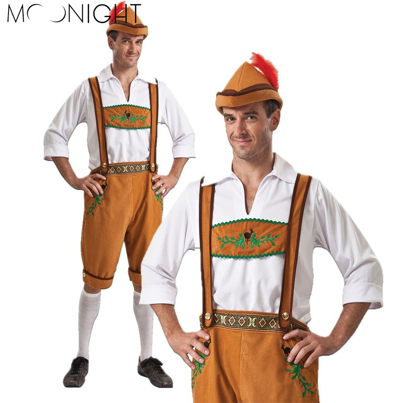 MOONIGHT Man Oktoberfest Costumes Octoberfest Bavarian Beer Party Clothes  Adult Men Hot(China)