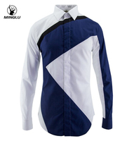 Men Shirts Casual Fitness Cotton Mens Dress Shirts Camisa Masculina Luxury Striped Shirts Men Chemise Homme Brand Long Sleeve