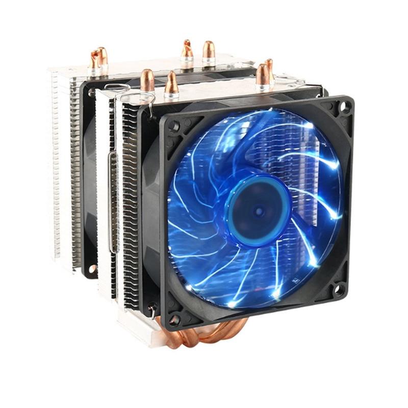 A doppia Ventola Heatpipe Radiatore CPU Cooler Ventola Di Raffreddamento del Dissipatore di Calore Per Cassa del PC Intel Intel LGA 2011/1366/1155 /1156/775 AMD AM2/AM2 +/AM3