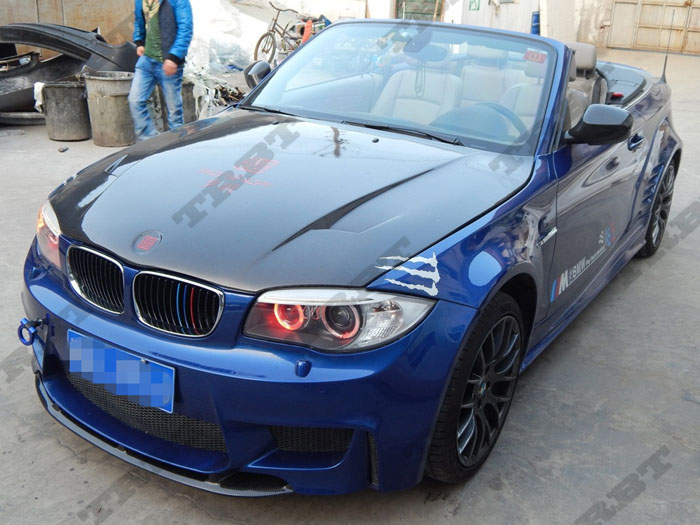 11-12 BMW E82 1 Series & 1M Rz CFRP Hood (2)