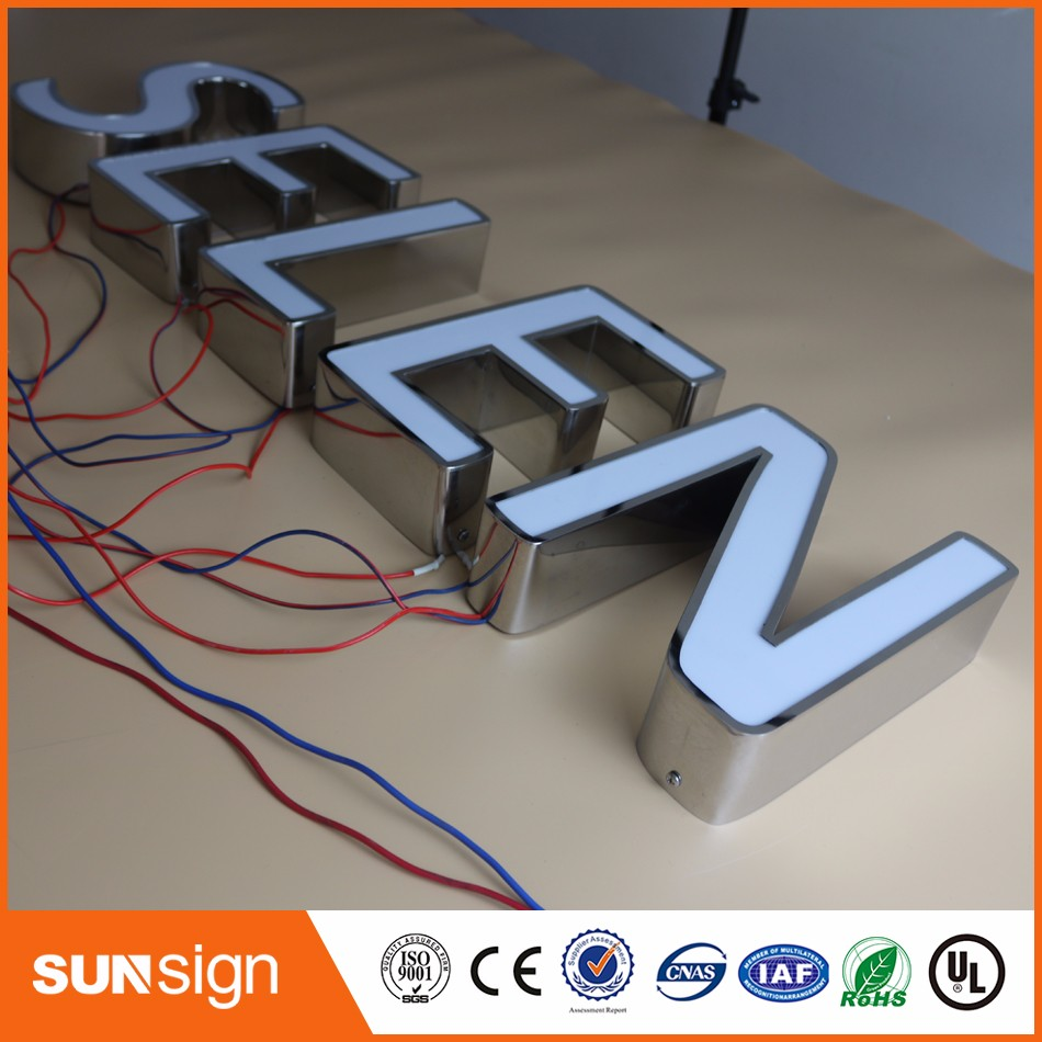 Aliexpress Factory Outlet Outdoor Waterproof Super High Brightness Acrylic Led Letter Signs For Restaurant