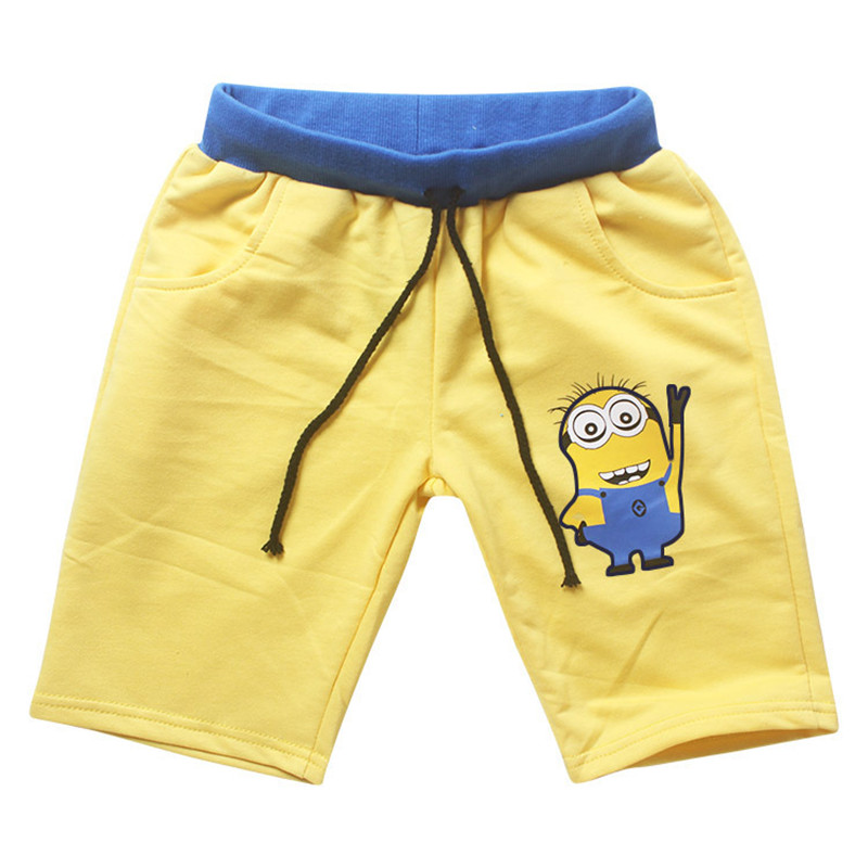 2017 Summer Boys Shorts Cotton Drawstring Cartoon Baby Boys Short Pants Trousers Casual Boys Trousers Children