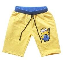 2017 Summer Boys Shorts Cotton Drawstring Cartoon Baby Boys Short Pants Trousers Casual Boys Trousers Children Clothing 2p003