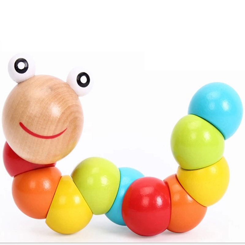 Colored wooden Variety shilly insects icaterpillars RB05 educational toys baby finger flexibility exercises