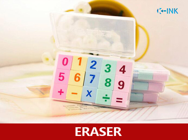 10-Pack Novelty Arabic Numberals Eraser , Creative Math Numbers Rubber Pencil Erasers For Kids