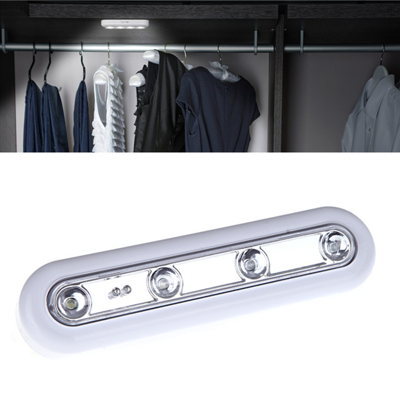 High Brightness 4LED Wall Lamp Wireless Battery Powered LED Touch Tap Night Light for Home Office Drop Shipping как трек за кредиты в tap tap revenge 4