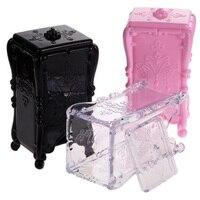 New Acrylic Makeup Storage Box Makeup Cotton Pad Box Cosmetic Case Makeup Tool
