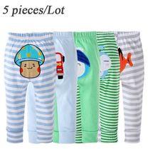 PP spodnie 5 sztuk dużo spodnie dla dzieci dziecko nosić Busha spodnie dla dzieci kreskówka chłopiec dziewczyna dla niemowląt odzież dla niemowląt Creppers bawełna spodnie tanie tanio Pełnej długości REGULAR Cartoon Unisex Na co dzień Suknem COTTON Elastyczny pas