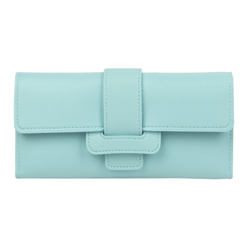2017 Fashion Elegant Women Leather Bifold Wallet Purse Clutch Card Holders Pocket Solid Purse Lady Long Handbag New Brand 1pc цена и фото