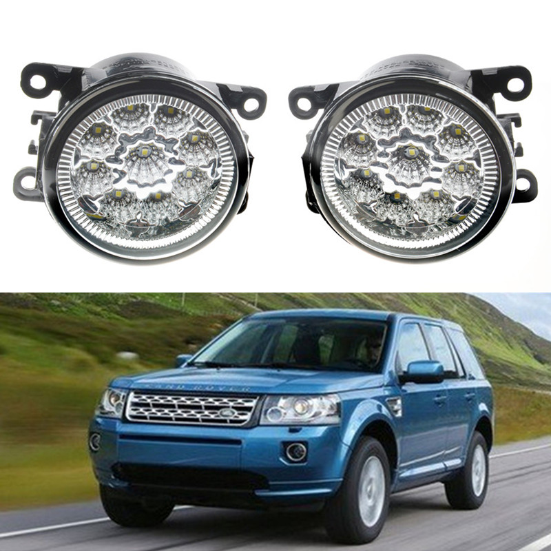 For LAND ROVER FREELANDER DISCOVERY Range Rover Sport LS 2006-2014 Car styling LED fog Lights high brightness fog lamps 1set leather car seat covers for land rover discovery sport freelander range sport evoque defender car accessories styling