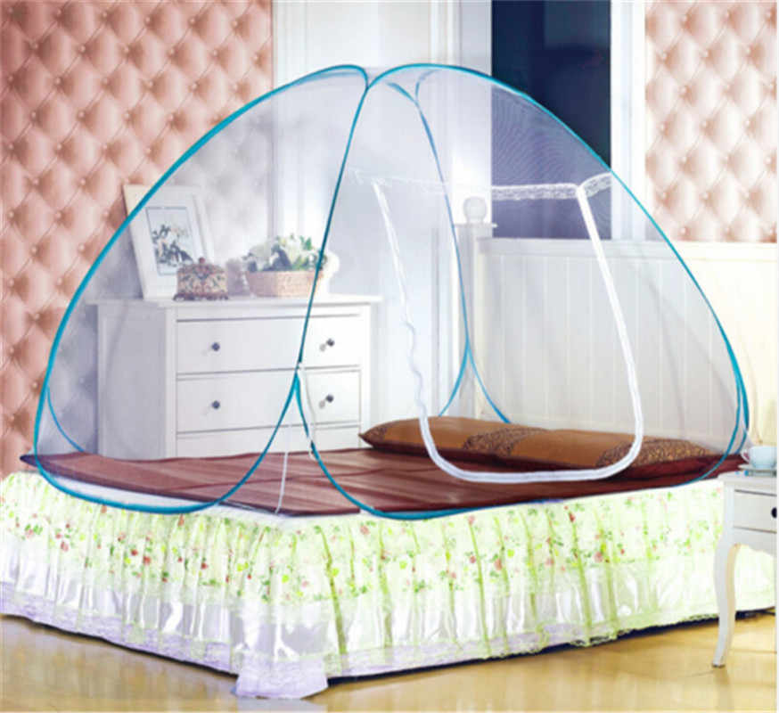 US Pop Up Camping Tent Bed Canopy Mosquito Net Queen King Size Netting Bedding