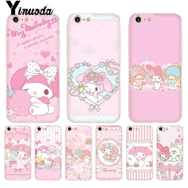 the latest 53712 017f7 Yinuoda For iphone 7 6 X Case Cute My Melody Little Twin Stars Coque Shell  Phone Case for iPhone 8 7 6 6S Plus X 5 5S SE 5C 4 4S