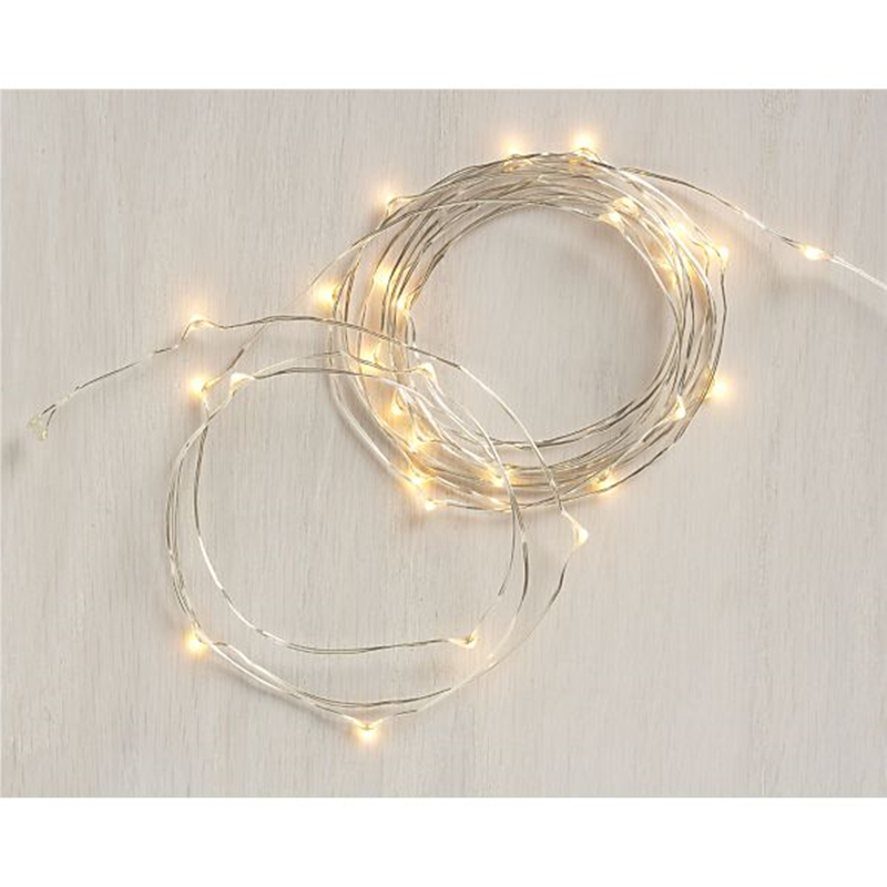 10 piece 2M 20 led 3 AA Battery Powered Decoration LED Copper Wire ...