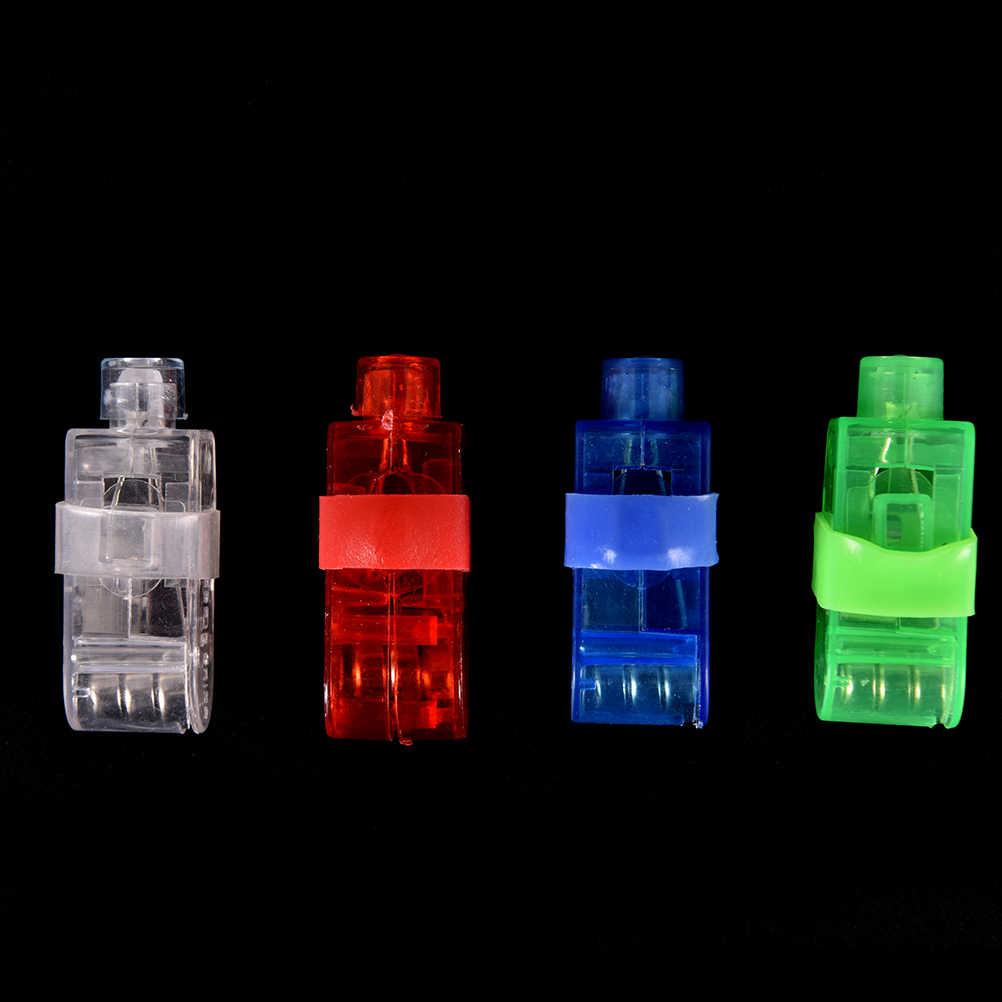 حفلة LED أضواء الاصبع متوهجة اللون الليزر Emitting مصابيح عيد الميلاد حفل زفاف مهرجان وامض فنجر ضوء ديكور