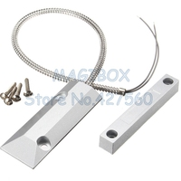 Door Sensor Switch Zinc Alloy Alarm Magnetic Reed Switch Detector Sensor Roller Shutter Garage Door