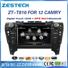 ZESTECH High performance dual-core HD digital touch screen car dvd for Toyota CAMRY 2012 car dvd with radio/RDS/3G+factory