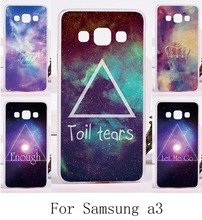 Mobile Phone Cover For Samsung Galaxy A3 2014 A3000 A300F Cases Clourful Hard Plastic and Soft TPU Fantasy Stars Sky Painted