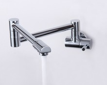 single cold Faucet wall kitchen faucet folding retractable rotary stretch vegetables basin sink faucet