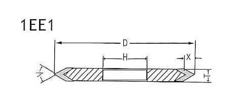 rebolo borda afiada ferramentas abrasivas para metal e não metal afiada ening dz