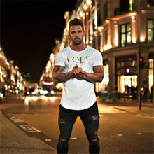 New Breathable Fitness Cotton T-shirt – Men's casual – short sleeve  Gym – Fitness – Bodybuilding– SPORT