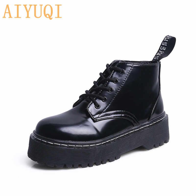 AIYUQI 2019 sonbahar yeni kadın Martin çizmeler avrupa ve amerika birleşik devletleri tendon kalın kadın kısa çizmeler sıcak kadın ayakkabısı