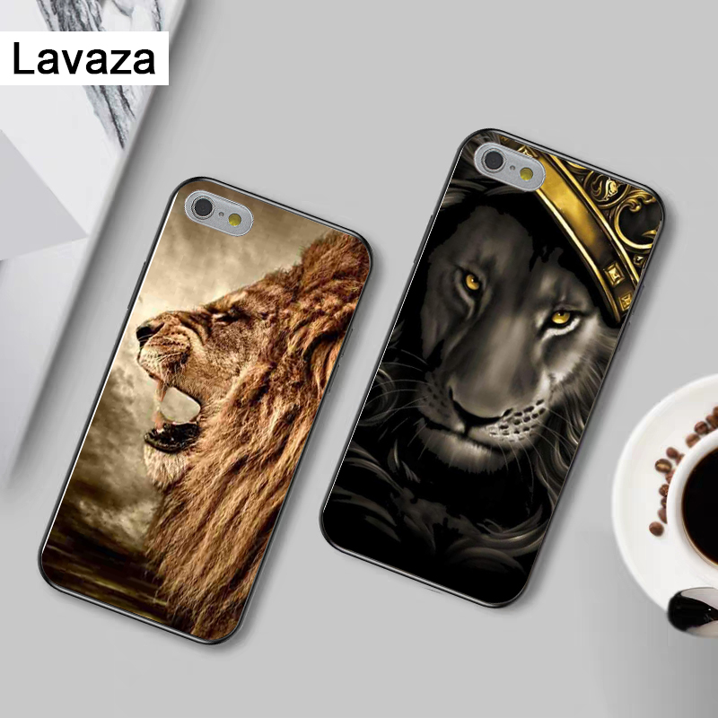 Lavaza Majestic Lion Portrait Upscale Silicone Case for iPhone 5 5S 6 6S Plus 7 8 11 Pro X XS Max XR in Fitted Cases from Cellphones Telecommunications