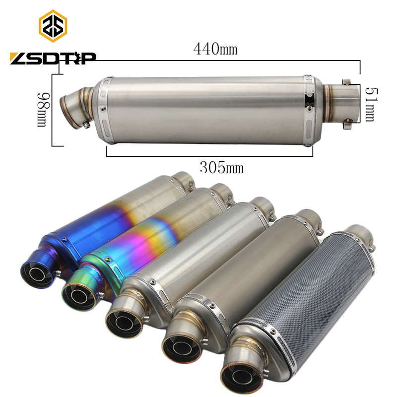 ZSDTRP Universal Titan Farbe Motorrad Roller Modifizierte Akrapovic - Motorradzubehör und Teile - Foto 1