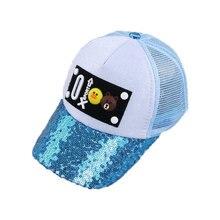 5d6d0fe591b9f Unisex Child Mesh Patchwork golf Baseball Cap Summer Cartoon Design  Adjustable Snapback Baseball ball Hat Kid