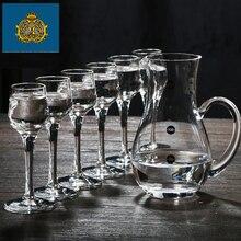Lead-free crystal glass small Moutai cup of wine pot wonton liquor set