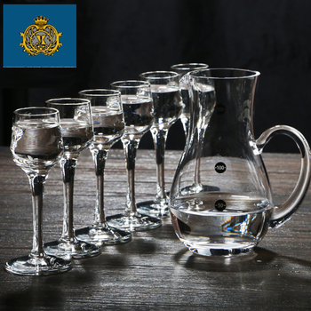 Lead-free crystal glass small Moutai cup of wine  cup wine pot wonton liquor cup set