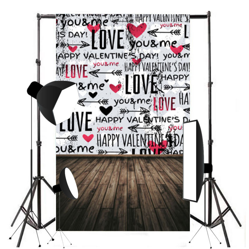 Mayitr 5x7ft Love Photography Background Vinyl High Quality Valentine's Day Backdrop Suitable For Studio Photo Props 8x10ft valentine s day photography pink love heart shape adult portrait backdrop d 7324