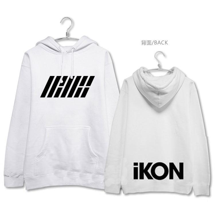 kpop Ikon B.I.bobby same paragraph loose warm Hooded sweatshirts Korean Men and women Spring autumn fashion Harajuku hoodies