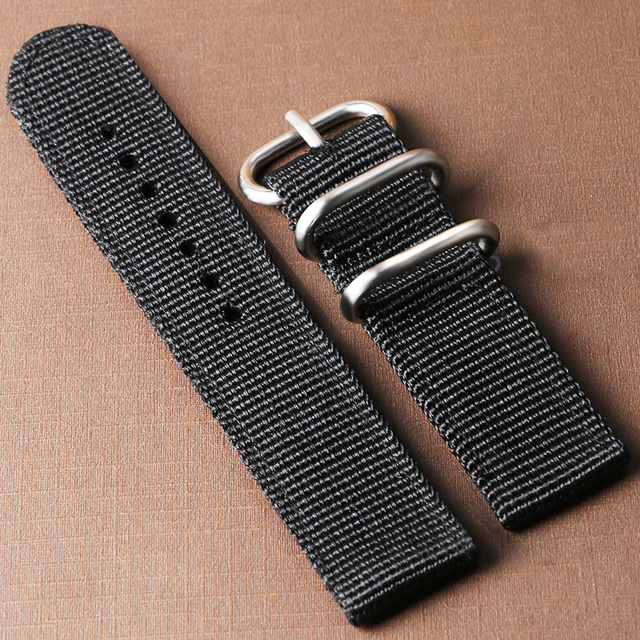 High Quality 5 Colors Cost-effective Nylon Canvas 20mm/22mm Width Watch Strap Ba