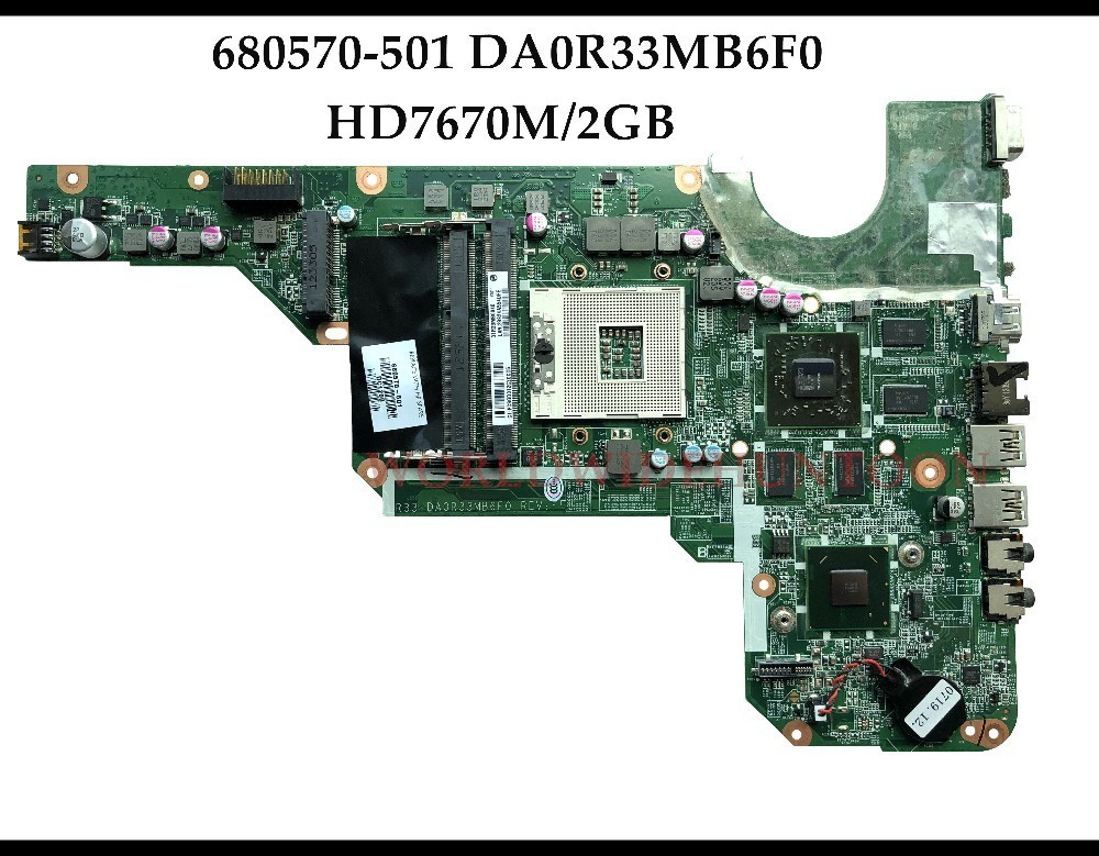 High quality 680570 001 For HP Pavilion G4 G6 2000 G7 2000 Laptop Motherboard 680570 501 DA0R33MB6F0 HM76 DDR3 HD7670M 2GB Test-in Motherboards from Computer & Office    1