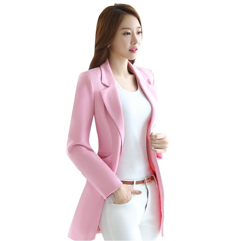 high quality Female Casual Suit ol Office Solid Slim Fit Blazer Women Notched Formal Work Jacket Design Solid color Blazer