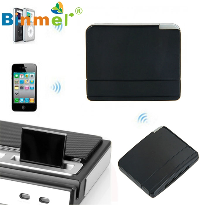 Beautiful Gift Brand New Black Bluetooth A2DP Music Audio Receiver 30pin Connector for iPhone Dock Wholesale price Dec29