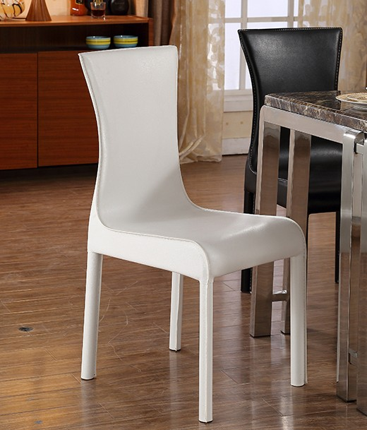 Cheap Dining Chair Sets: MYBESTFURN Simple PU Leather Chairs For Dining Table Set