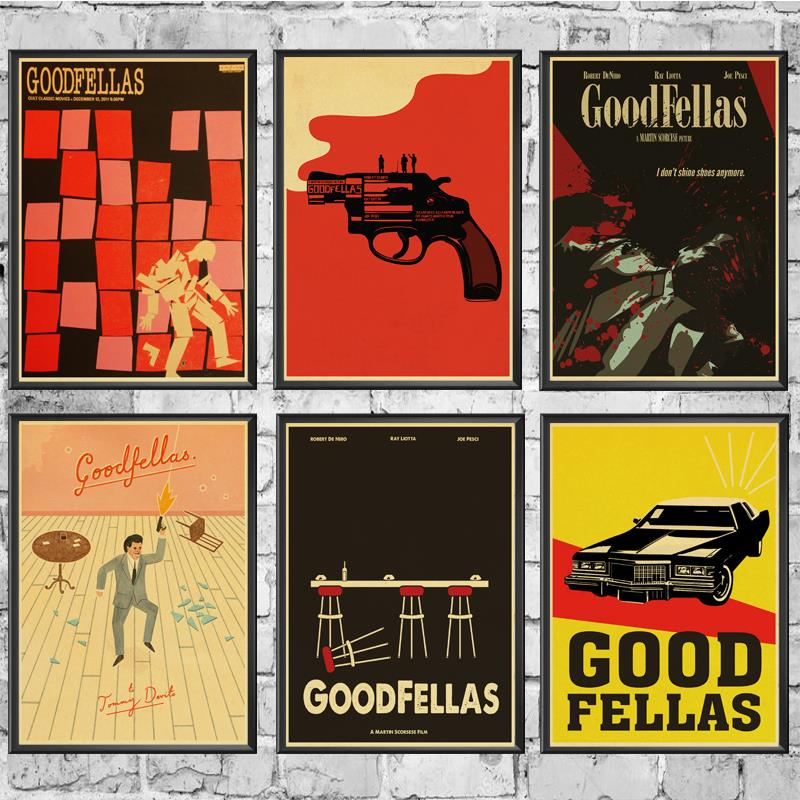 Movie Poster Goodfellas Retro Poster Prints High Quality  Wall Stickers  For Living Room Home Decoration